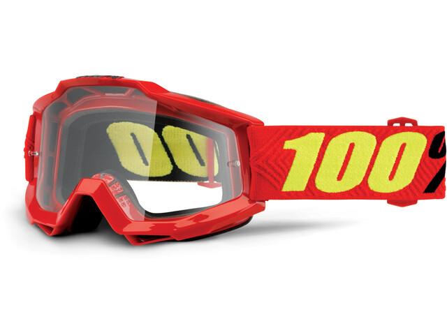 100% Accuri Anti Fog Clear Goggles rød (2019) | Briller